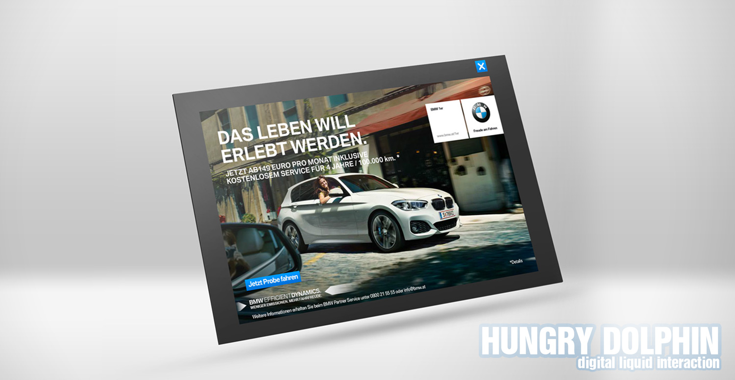 HTML5 Barrier Ad for Yahoo – BMW